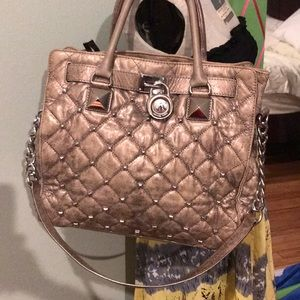 Authentic Michael Kors Hamilton Large Studded Bag